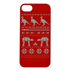 Holiday Party Attire Ugly Christmas Red Background Apple iPhone 5S/ SE Hardshell Case