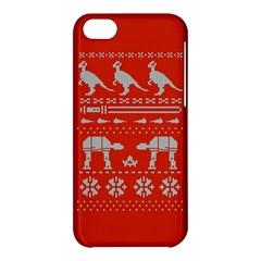 Holiday Party Attire Ugly Christmas Red Background Apple iPhone 5C Hardshell Case