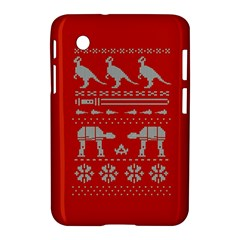Holiday Party Attire Ugly Christmas Red Background Samsung Galaxy Tab 2 (7 ) P3100 Hardshell Case