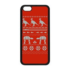 Holiday Party Attire Ugly Christmas Red Background Apple iPhone 5C Seamless Case (Black)