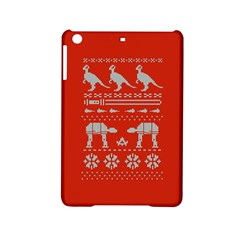 Holiday Party Attire Ugly Christmas Red Background iPad Mini 2 Hardshell Cases