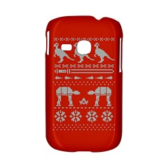 Holiday Party Attire Ugly Christmas Red Background Samsung Galaxy S6310 Hardshell Case