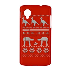 Holiday Party Attire Ugly Christmas Red Background LG Nexus 5