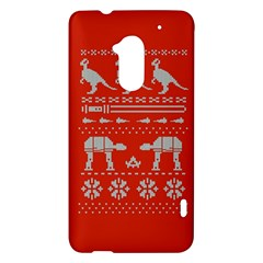 Holiday Party Attire Ugly Christmas Red Background HTC One Max (T6) Hardshell Case