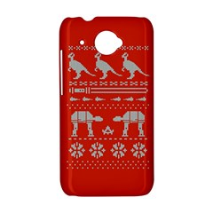 Holiday Party Attire Ugly Christmas Red Background HTC Desire 601 Hardshell Case