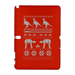 Holiday Party Attire Ugly Christmas Red Background Samsung Galaxy Note 10.1 (P600) Hardshell Case