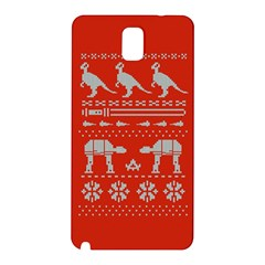 Holiday Party Attire Ugly Christmas Red Background Samsung Galaxy Note 3 N9005 Hardshell Back Case