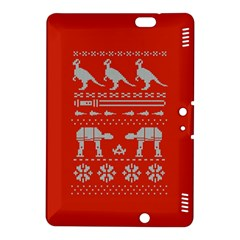 Holiday Party Attire Ugly Christmas Red Background Kindle Fire HDX 8.9  Hardshell Case