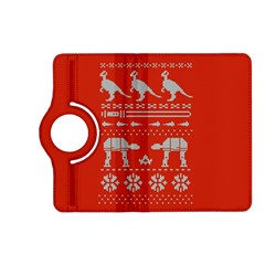 Holiday Party Attire Ugly Christmas Red Background Kindle Fire HD (2013) Flip 360 Case
