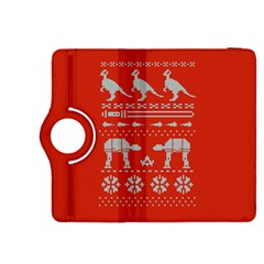 Holiday Party Attire Ugly Christmas Red Background Kindle Fire HDX 8.9  Flip 360 Case