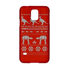 Holiday Party Attire Ugly Christmas Red Background Samsung Galaxy S5 Hardshell Case