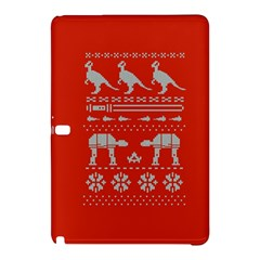 Holiday Party Attire Ugly Christmas Red Background Samsung Galaxy Tab Pro 10.1 Hardshell Case