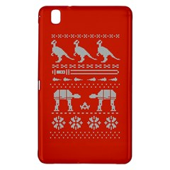 Holiday Party Attire Ugly Christmas Red Background Samsung Galaxy Tab Pro 8.4 Hardshell Case