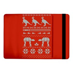 Holiday Party Attire Ugly Christmas Red Background Samsung Galaxy Tab Pro 10.1  Flip Case