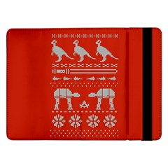 Holiday Party Attire Ugly Christmas Red Background Samsung Galaxy Tab Pro 12.2  Flip Case