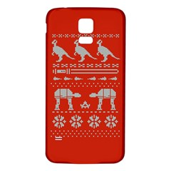Holiday Party Attire Ugly Christmas Red Background Samsung Galaxy S5 Back Case (White)