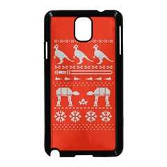 Holiday Party Attire Ugly Christmas Red Background Samsung Galaxy Note 3 Neo Hardshell Case (Black)