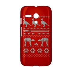 Holiday Party Attire Ugly Christmas Red Background Motorola Moto G