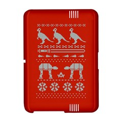 Holiday Party Attire Ugly Christmas Red Background Amazon Kindle Fire (2012) Hardshell Case