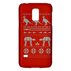 Holiday Party Attire Ugly Christmas Red Background Galaxy S5 Mini