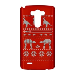 Holiday Party Attire Ugly Christmas Red Background LG G3 Hardshell Case