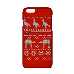 Holiday Party Attire Ugly Christmas Red Background Apple iPhone 6/6S Hardshell Case