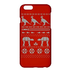 Holiday Party Attire Ugly Christmas Red Background Apple iPhone 6 Plus/6S Plus Hardshell Case