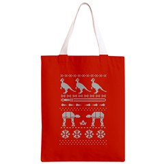 Holiday Party Attire Ugly Christmas Red Background Classic Light Tote Bag