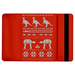 Holiday Party Attire Ugly Christmas Red Background Ipad Air 2 Flip
