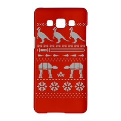 Holiday Party Attire Ugly Christmas Red Background Samsung Galaxy A5 Hardshell Case