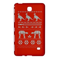 Holiday Party Attire Ugly Christmas Red Background Samsung Galaxy Tab 4 (7 ) Hardshell Case
