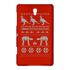 Holiday Party Attire Ugly Christmas Red Background Samsung Galaxy Tab S (8.4 ) Hardshell Case
