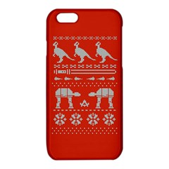 Holiday Party Attire Ugly Christmas Red Background iPhone 6/6S TPU Case