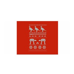 Holiday Party Attire Ugly Christmas Red Background Satin Wrap