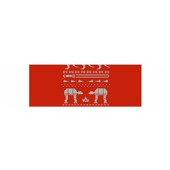 Holiday Party Attire Ugly Christmas Red Background Satin Scarf (Oblong)