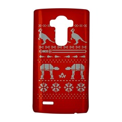 Holiday Party Attire Ugly Christmas Red Background LG G4 Hardshell Case