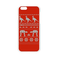 Holiday Party Attire Ugly Christmas Red Background Apple Seamless iPhone 6/6S Case (Transparent)