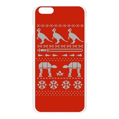 Holiday Party Attire Ugly Christmas Red Background Apple Seamless iPhone 6 Plus/6S Plus Case (Transparent)