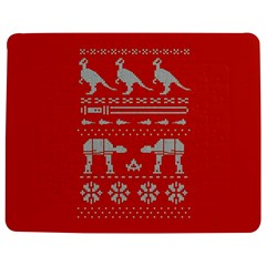 Holiday Party Attire Ugly Christmas Red Background Jigsaw Puzzle Photo Stand (Rectangular)