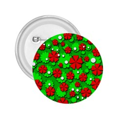 Xmas flowers 2.25  Buttons