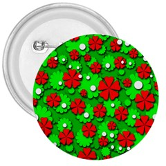 Xmas flowers 3  Buttons