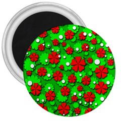 Xmas flowers 3  Magnets