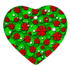 Xmas flowers Ornament (Heart)