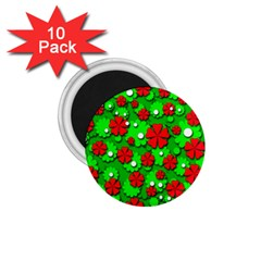 Xmas flowers 1.75  Magnets (10 pack)