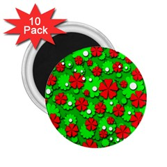 Xmas flowers 2.25  Magnets (10 pack)