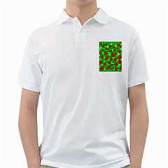 Xmas flowers Golf Shirts