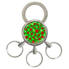 Xmas flowers 3-Ring Key Chains