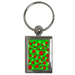 Xmas flowers Key Chains (Rectangle)