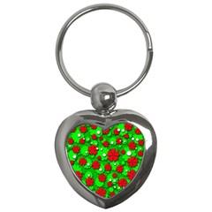 Xmas flowers Key Chains (Heart)