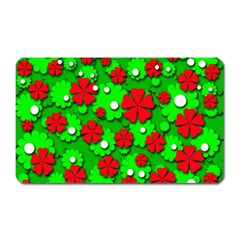 Xmas flowers Magnet (Rectangular)